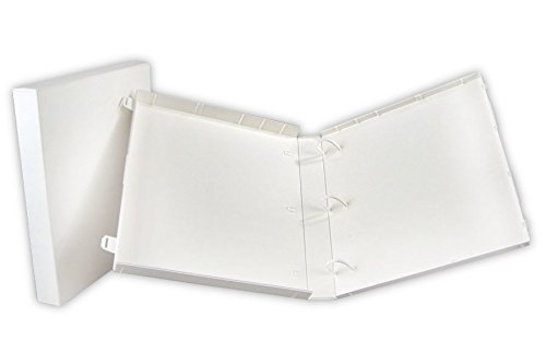 UniKeep 3 Ring Binder White Case View Binder 1.5 Inch Spine With Clear Outer Overlay Box of 15 Binders by Unikeep