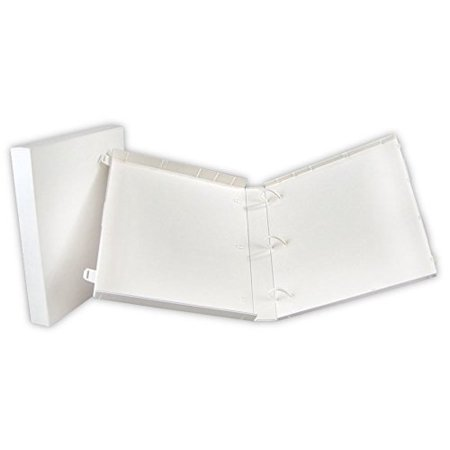 UniKeep 3 Ring Binder - White - Case View Binder - 1.5 Inch Spine - With Clear Outer Overlay - Box of 15 (Clear View Overlay)