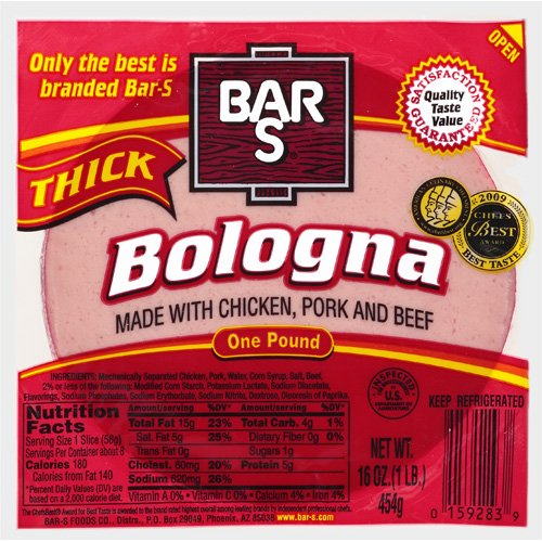 Bar-S Thick Bologna, 16 oz