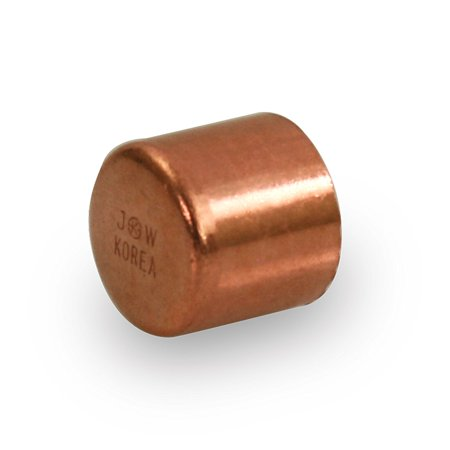 Everflow Supplies CTEC0018 1/8' Copper Cap with Sweat Socket for Use with 1/4' Outer Diameter Pipe