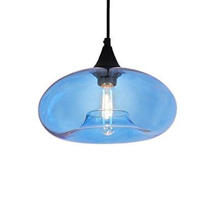 Jemmy Ho Edison Pendant Lamp Loft Vintage Blue Glass Hanging Ligting