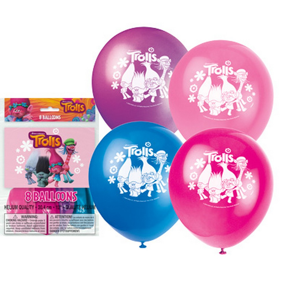 Trolls Latex Balloons [8 per Pack]
