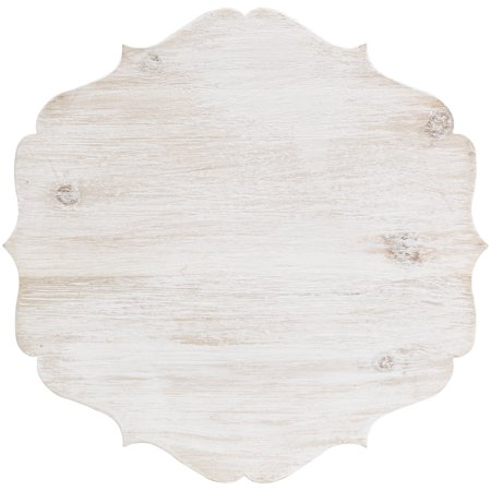 "Cake Stand Large Wood W/Galvinized Edge 11.8""X11.8""X9.4""H-White - image 1 de 1"