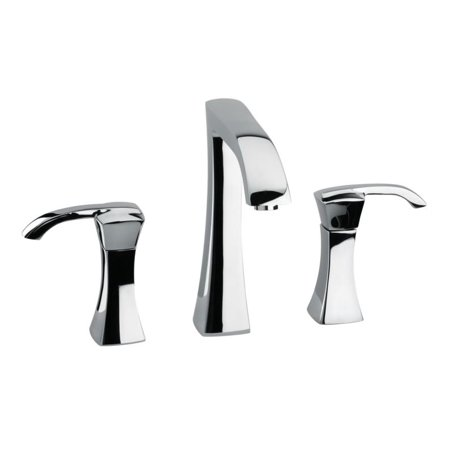 LaToscana 89CR214 Lady 6 3/8u0022 Double Handle Widespread/Deck Mounted Bathroom Sink Faucet with Push Drain In Chrome