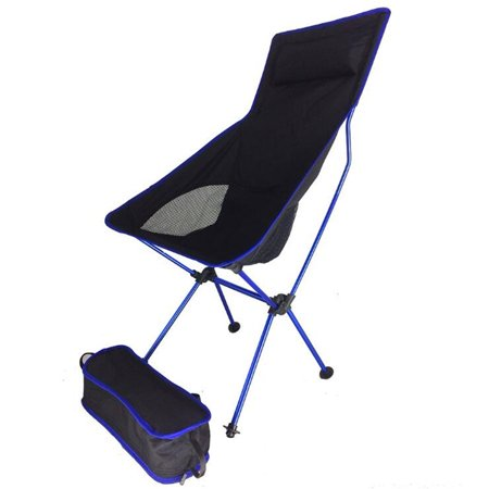 Swell Portable Collapsible Chair Fishing Camping Bbq Stool Folding Extended Hiking Seat Ultralight Furniture Blue Ocoug Best Dining Table And Chair Ideas Images Ocougorg