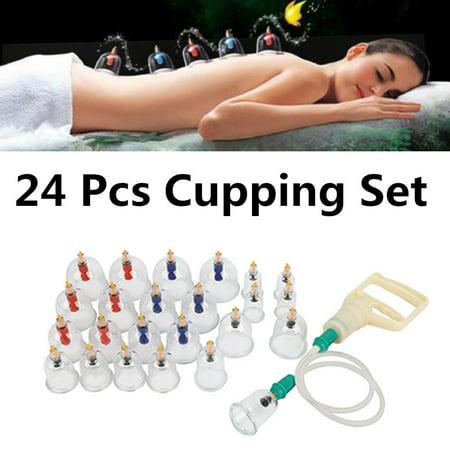 Garosa 24pcs ventouses thérapie ensemble ventouses ensemble avec aimants de pompe à vide thérapie de ventouses biomagnétique tasse acupuncture ventouses équipement de thérapie massage TCM - image 9 de 9