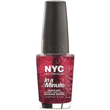 NYC New York Color In a New York Minute Nail Polish, Ruby Slippers, 0.33 fl oz - Walmart.com