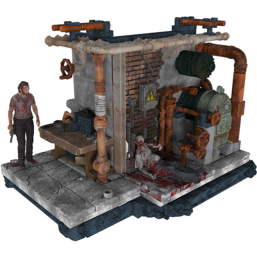 McFarlane Toys The Walking Dead Prison Boiler Room Construction Set