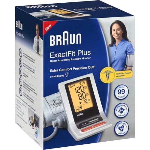 Braun Exactfit Plus Upper Arm Blood Pressure Monitor, 1ct