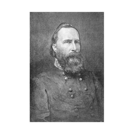 Portrait of Military Officer James Longstreet Print Wall Art (Military Portrait)