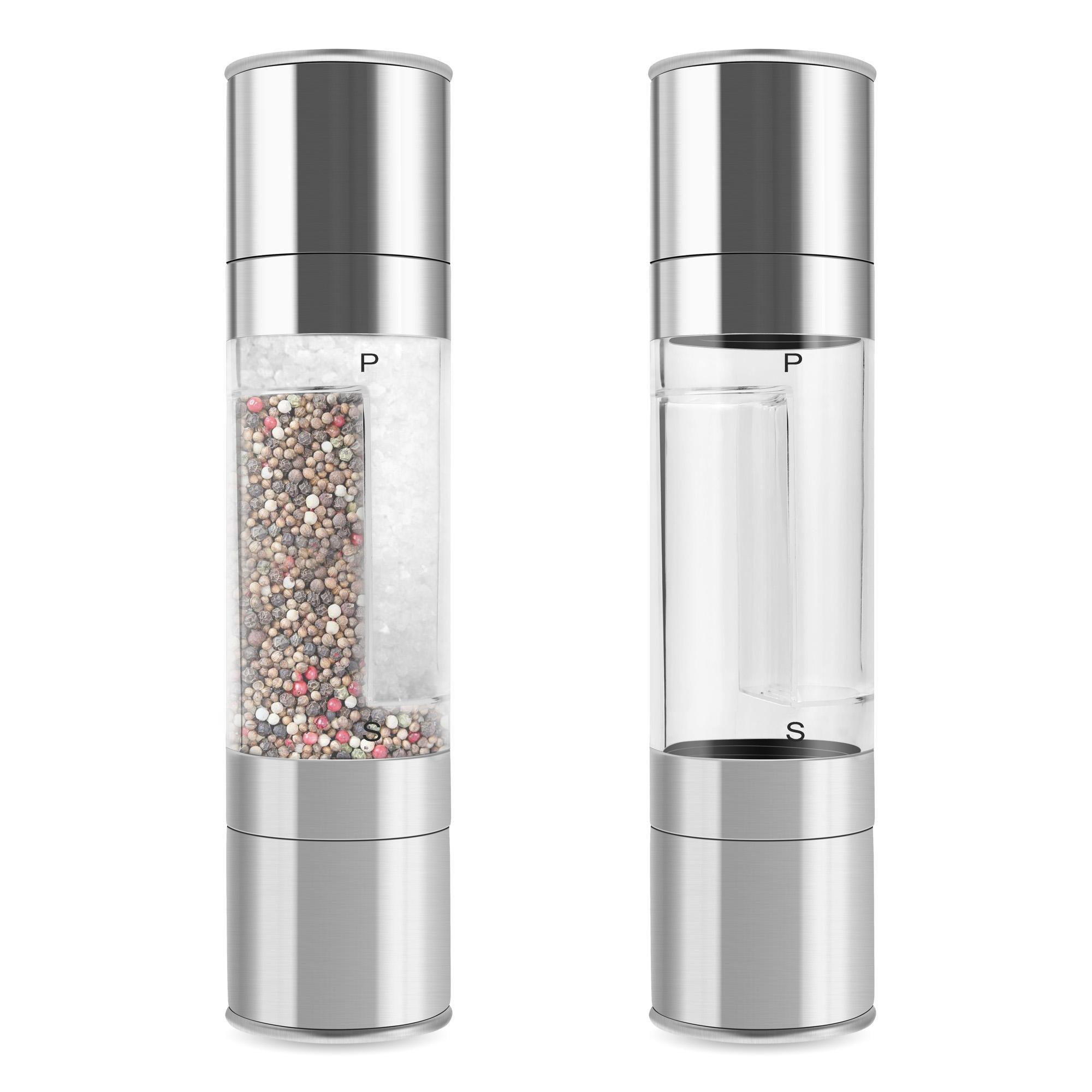 Click here to buy High Quality Grinder Set Salt and Pepper Grinder Set Premium Salt Shaker and Pepper Mill DEAML.