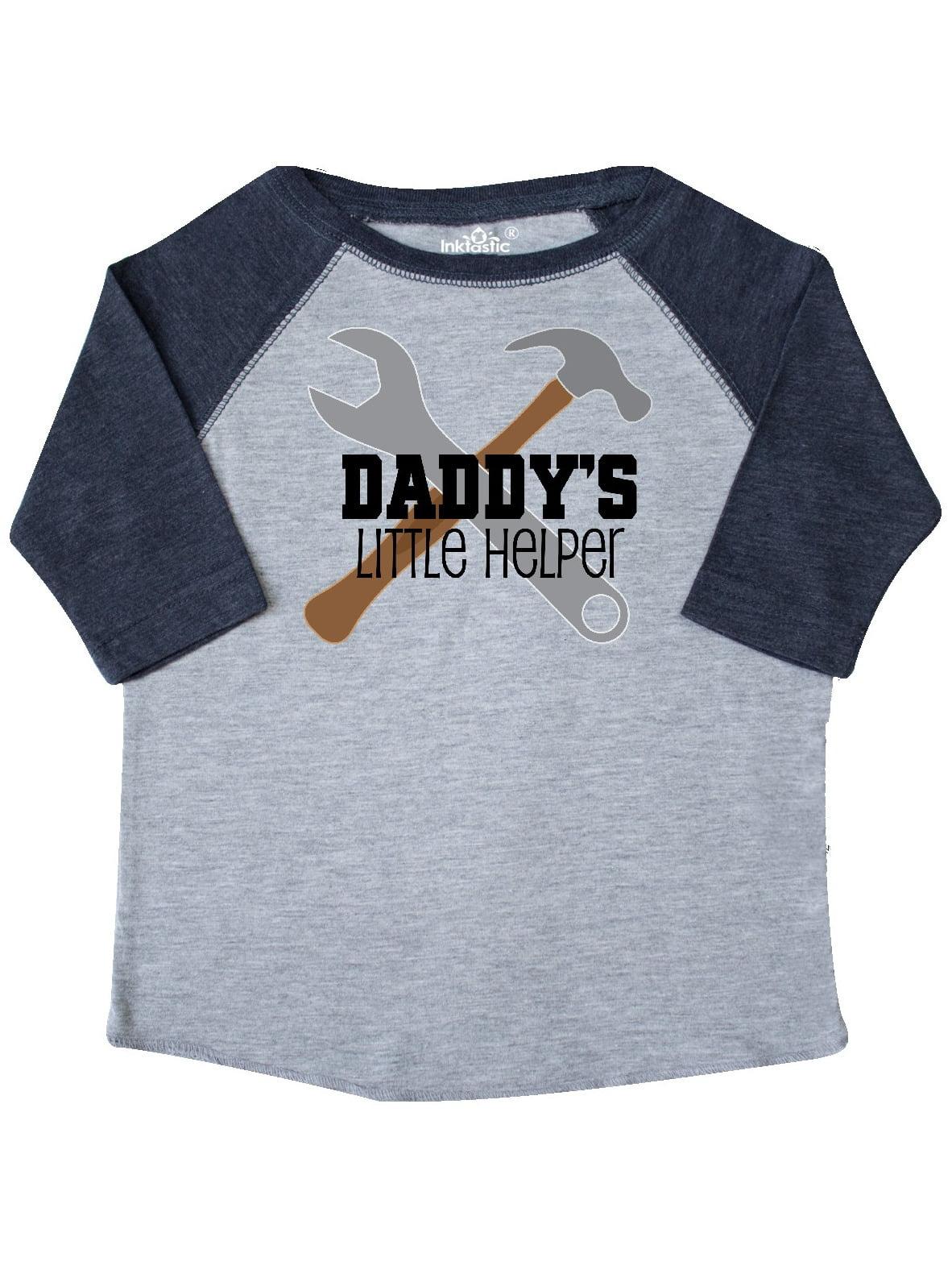 01b43d23c Inktastic - Daddy's Little Helper tool set Toddler T-Shirt - Walmart.com