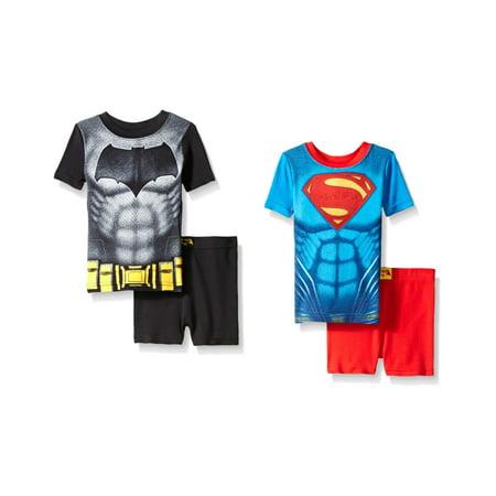 Super Man Outfit (Justice League Boys' Batman Vs Superman 4 Piece Cotton Short)