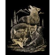"""Gold Foil Engraving Art Kit 8""""X10""""-Wolves"""