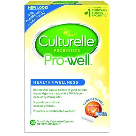 Culturelle Pro Well Health and Wellness Probiotics, 50 Count
