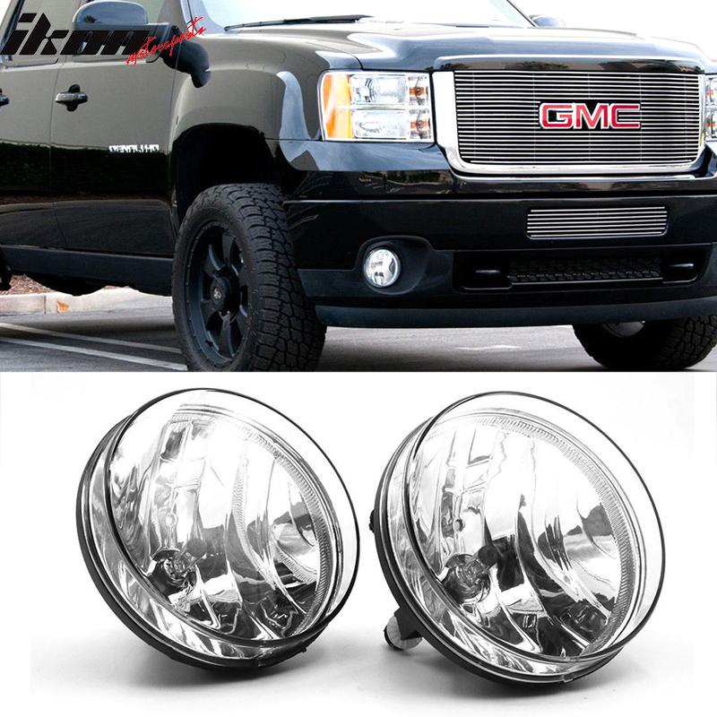 Fits 07-13 GMC Sierra 1500 Assembly Fog Lights Lamps Left Right Bumper