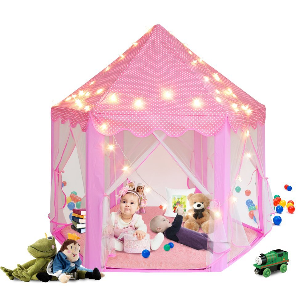 Kids Play Tent, AmyHomie Fantasy Princess Castle Play Tentu2026