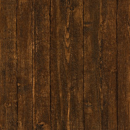 Brewster Timber Dark Brown Wood Panel Wallpaper