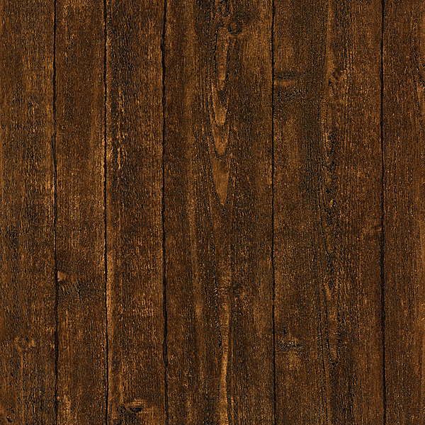 Timber Dark Brown Wood Panel Wallpaper
