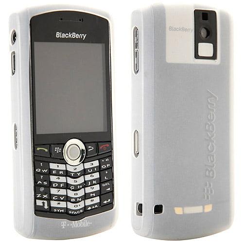 BlackBerry Rubber Skin Case For Pearl 8100 - White