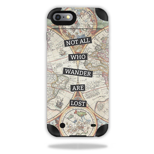 Skin For Mophie Juice Pack iPhone 6 Plus – Who Wander | MightySkins Protective, Durable, and Unique Vinyl Decal wrap cover | Easy To Apply, Remove, and Change Styles | Made in the USA