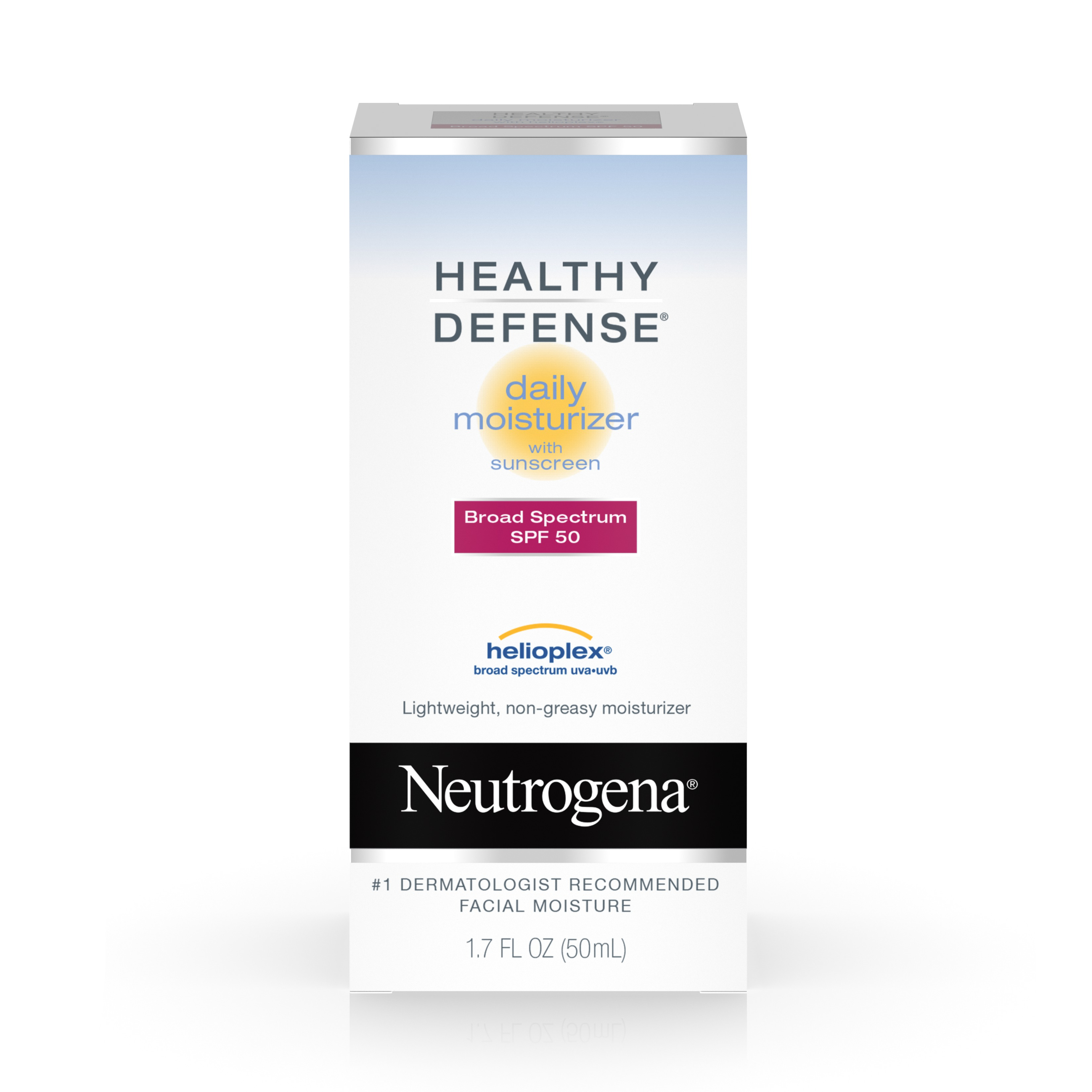 Neutrogena Healthy Defense Daily Moisturizer With Broad Spectrum Spf 50 Sunscreen, 1.7 Fl. Oz. - Walmart.com