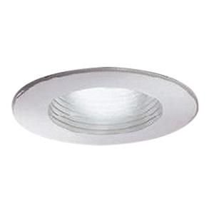Lightolier 305WHWX 3-3/4 Inch Adjustable Accent White Painted Step Reflector Baffle Trim Round Galvanized LytePoints