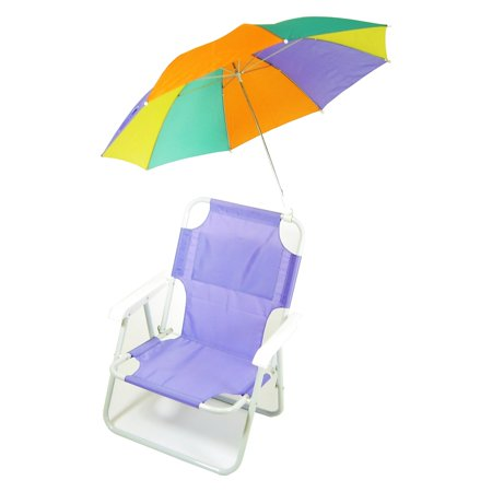 Pre-Teen Beach Chair with Colored Umbrella