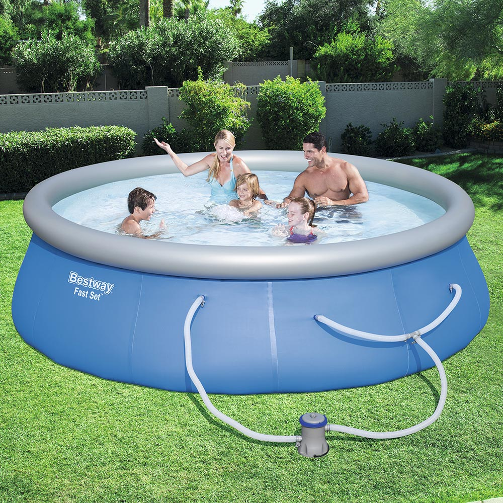 Bestway Fast Set Swimming Pool Set with 530 GPH Filter Pump, 13' x 33""
