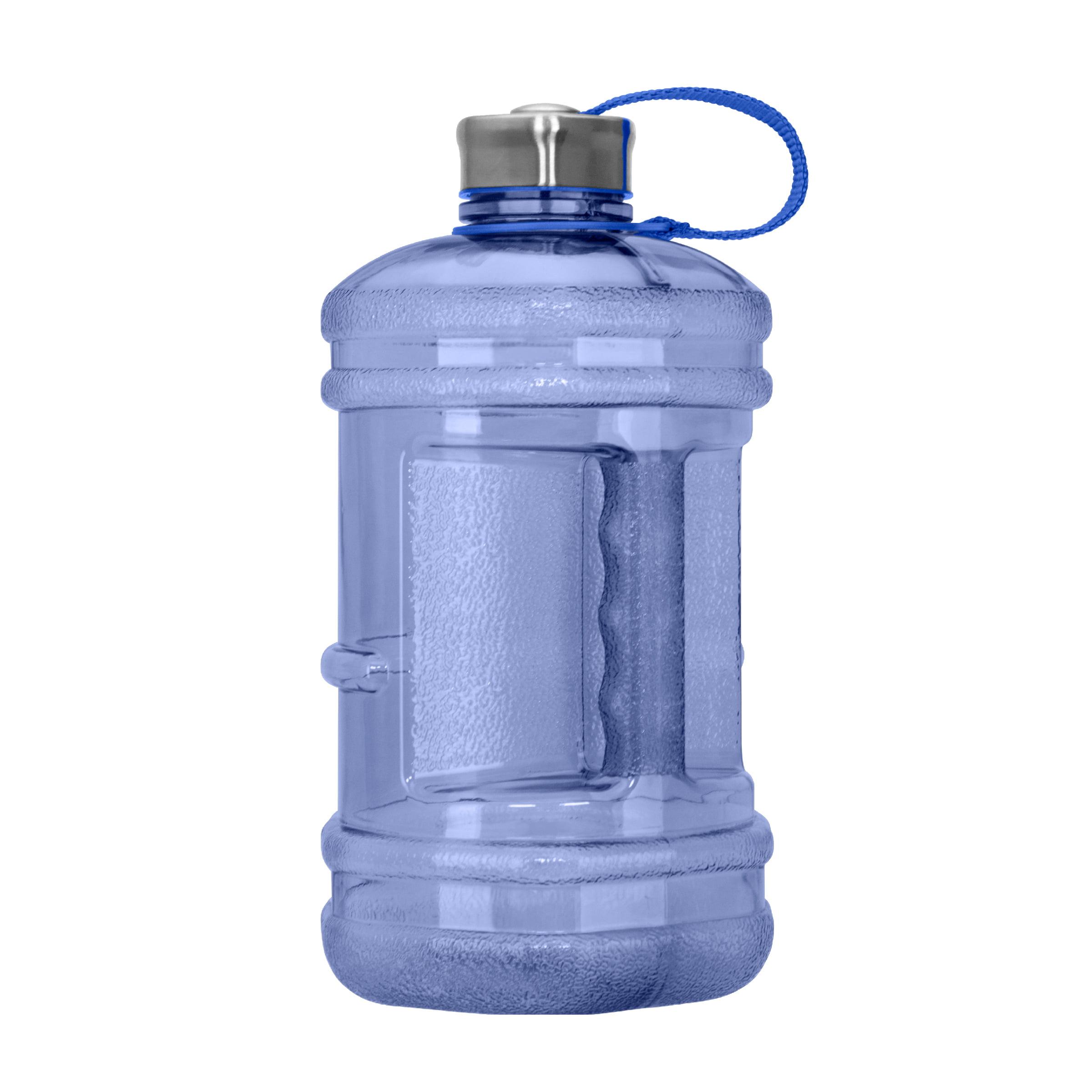 2.3 Liter (77 oz) BPA Free Hexagon Water Bottle w/48mm Steel Cap (Dark Blue)