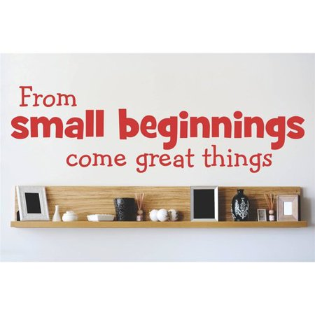Design With Vinyl From Small Beginnings Come Great Things