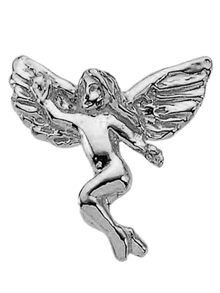 14K White Gold Floating Angel Pin Brooch by