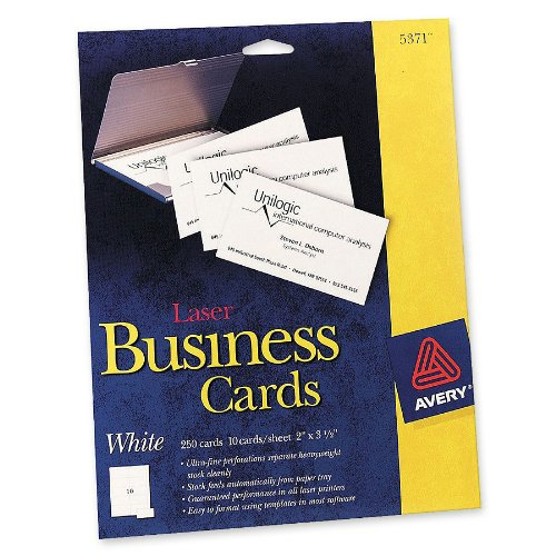 """Avery Laser Perforated Business Card A8 2"""" X 3 5"""