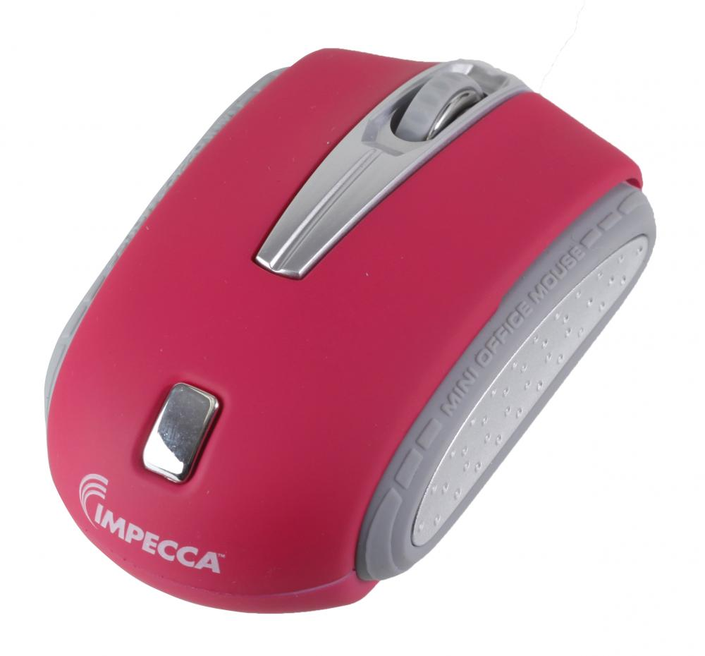 Impecca WM402P Wm402 Traveling Notebook Mouse - Pink