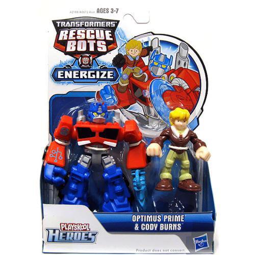 Playskool Heroes Transformers Rescue Bots Optimus Prime and Cody Burns Figure Pack by Hasbro
