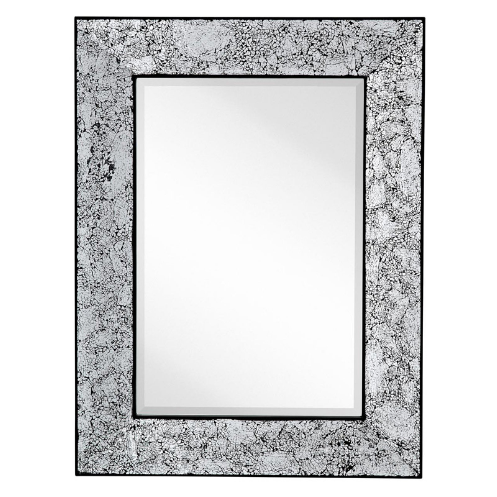 Majestic Rectangle Crackled Wall Mirror