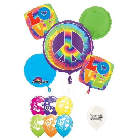 The 60's Peace Sign Timeless Decade Balloon Bouquet](60's Party Decorations)