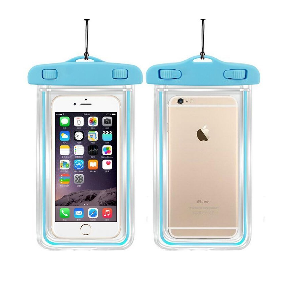 Universal Waterproof Case, 1Pack Clear Transparent Cellphone Waterproof, Dustproof Dry Bag With Neck Strap for iPhone 8,8plus,7,7 Plus,6S,6S Plus,google pixel,and All Devices Up to 5.8 Inches