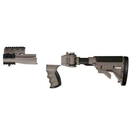Image of Advanced Technology Strikeforce AK-47 Stock, 6 Position Collapsible Stock, Scorpion Recoil System, Adjustable Cheekrest, Desert Tan