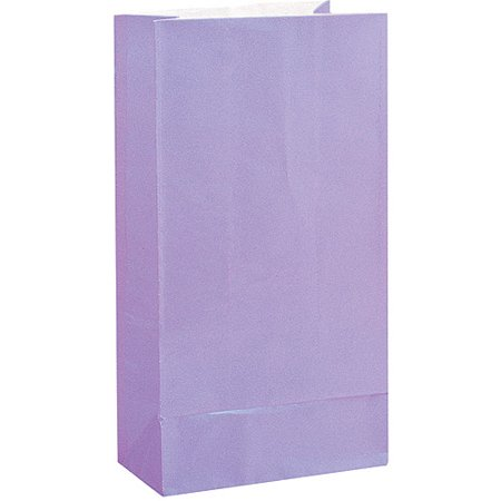 Halloween Luminary Bag Designs (Paper Luminary & Party Bags, 10 x 5 in, Lavender,)