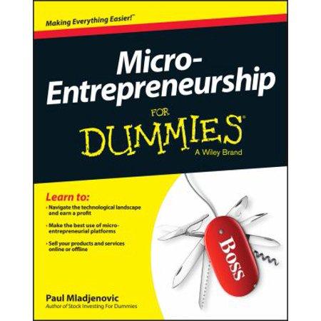Micro Entrepreneurship For Dummies