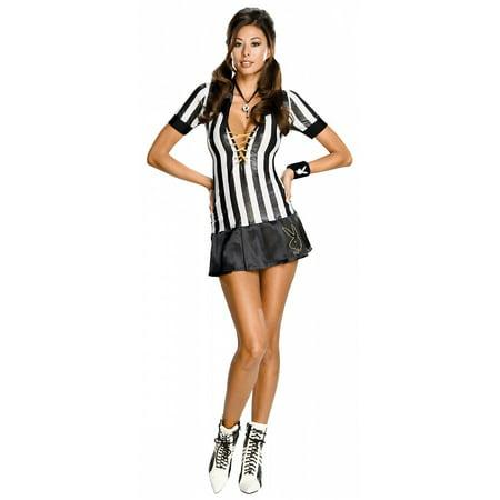 Classy Playboy Bunny Costume (Playboy Sexy Referee Adult Costume -)