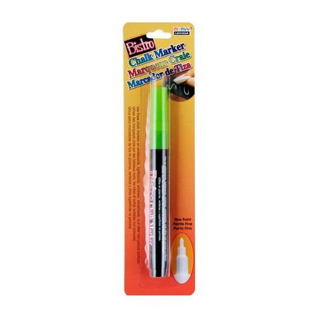 Bistro Fine Tip Chalk Marker, Fluorescent Green, 1 Count