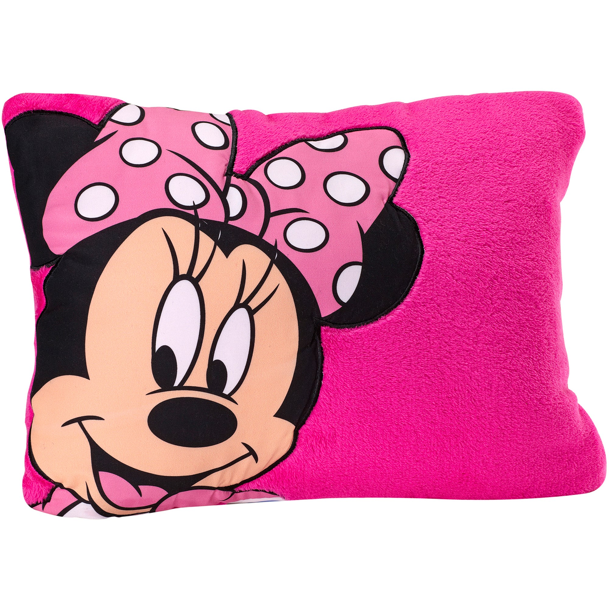 Disney Minnie Mouse Pink Decorative Pillow by Crown Crafts Infant Products Inc