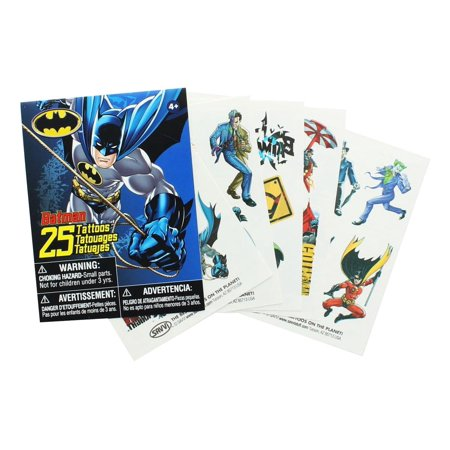 Batman Temporary Tattoos, Pack of 25 Temporary Tattoo Pack