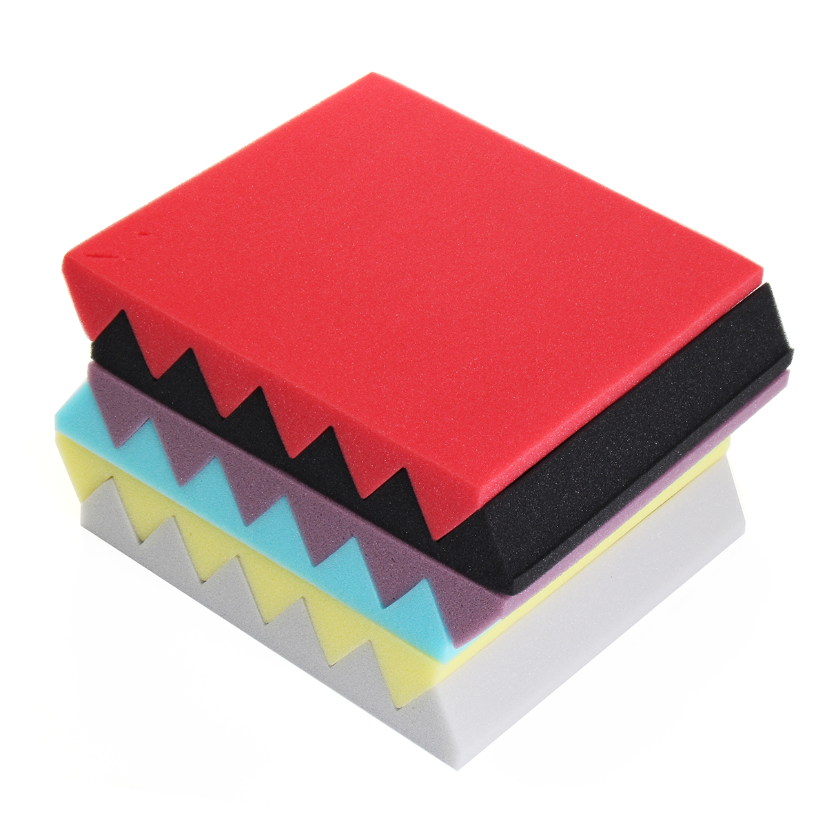 Wedge Acoustic Studio studioequipment Sponge Soundproofing Foam Wall Tiles 12''x12''x2''