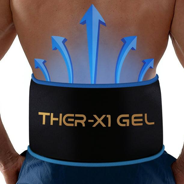 Ceinture de taille réutilisable pour les maux de dos par MEDX Thérapie et soulagement flexibles à chaud ou à froid au micro-ondes