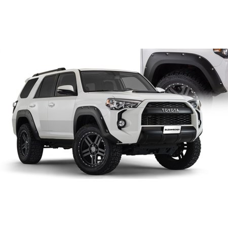 Bushwacker 14-18 Toyota 4Runner Pocket Style Flares 4pc Excludes Limited - Black (Bushwacker Flares)