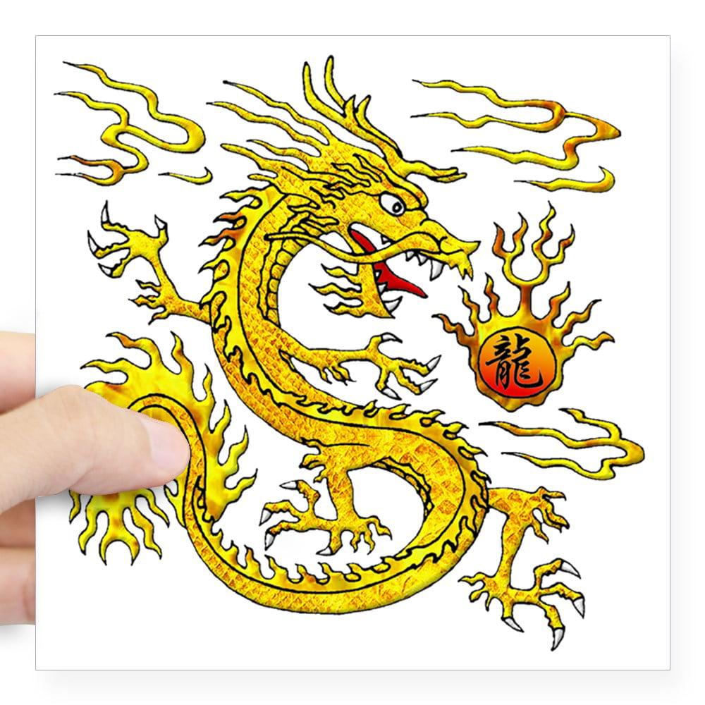 Golden dragon sticker treating steroid flush