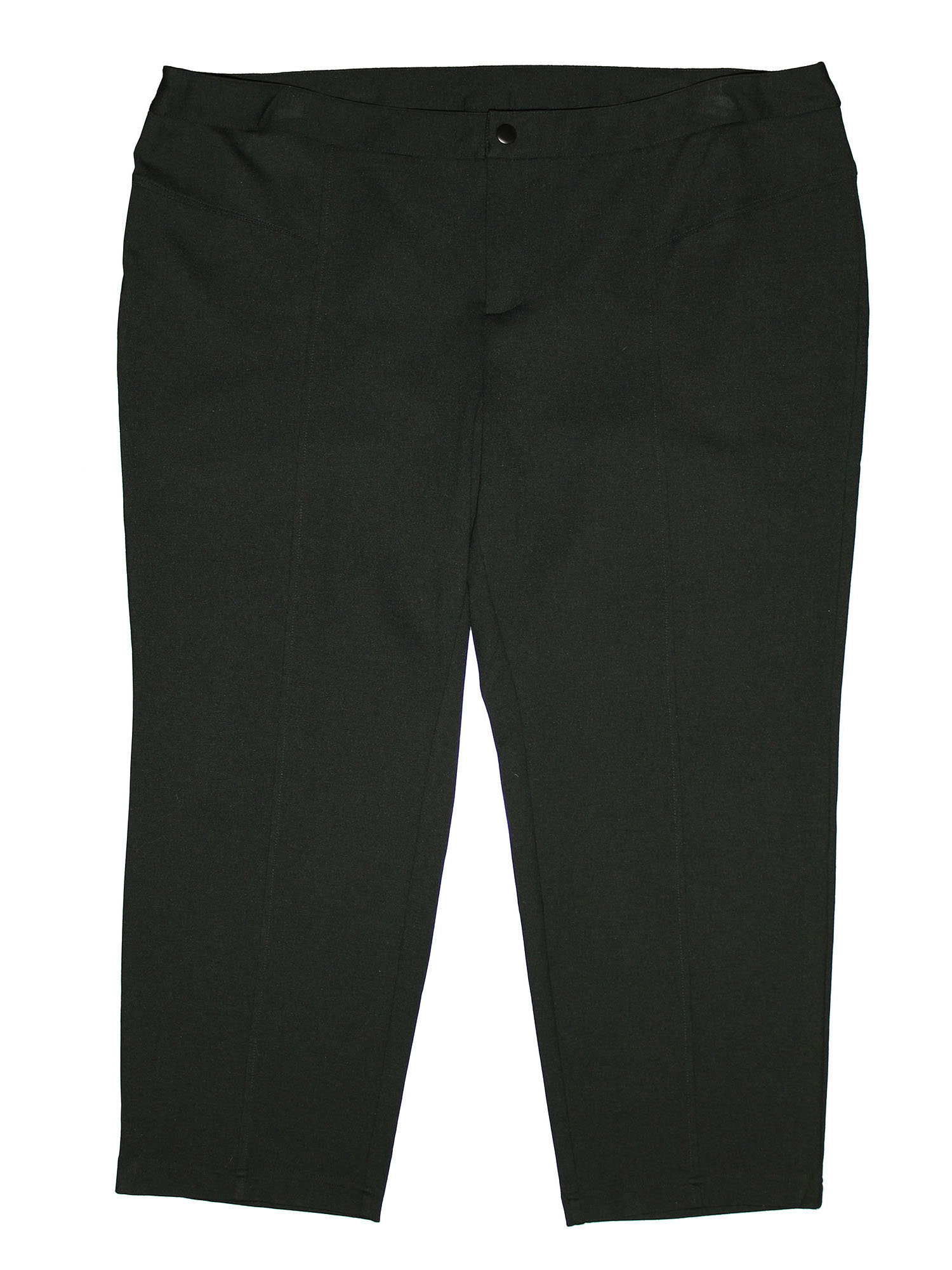 INC Women's Plus Size Tapered Straight Leg Casual Ponte Knit Pants 24w Petite Black